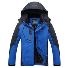 2018 Men's Winter Inner Fleece Waterproof Jacket Outdoor Sport Warm Brand Coat Hiking Camping Trekking Skiing Male Rain Jackets недорого