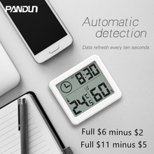 PANDUN Ultra thin and simple LCD Digital Thermometer & Hygrometer/ Hygrothermograph
