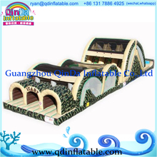 Inflatable Obstacle Playground Inflatable Obstacle Course Games Commercial Big Inflatable Slide with Obstacle for Entertainment