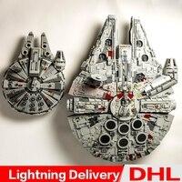 LP 05007 Millennium Falcon UCS LP 05132 destroyer millennium falcon Star Wars Blocks lepinings Toys Clone 75192 75105
