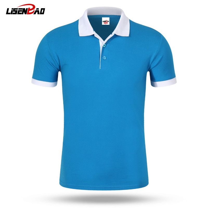 Accept custom diy logo 2017 New Men's   Polo   Shirt Men Cotton Short Sleeve shirt Casual jerseys Plus Size S - 3XL