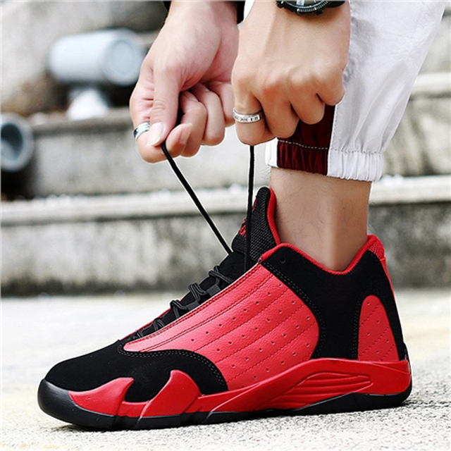 WaterMonkey New Arrival Men High Top Cushioning Basketball Shoes Breathable Lace Up Sneakers Shockproof Athletic Sports Shoes