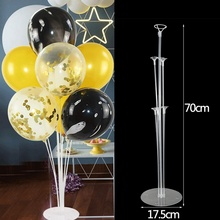 Tubes Balloons Holder Column Stand Clear Plastic Balloon Stick Birthday Party Decoration Kids Wedding Decor