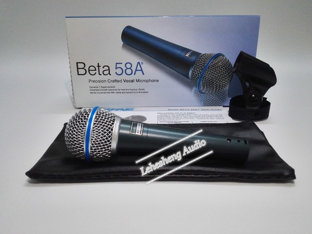 High Quality Beta 58 58A Clear Sound Handheld Wired Karaoke Microphone
