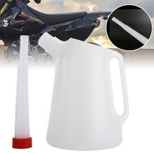 1pc Universal 5 Litre Garage Oil Fuel/Oil Measuring Jug With Flexible Spout For Car Motorcycle Plastic Oiler Pot