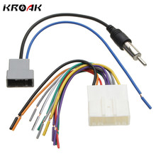 Kroak Car DVD Radio Install Stereo Audio Wiring Harness Cable Plugs Antenna Adapter For Nissan 2009-2013