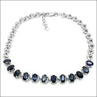 2017 Sale Qi Xuan_Fashion Jewelry_Dark Blue Stone Elegant Woman Bracelets_S925 Solid Silver Bracelets_Factory Directly Sales
