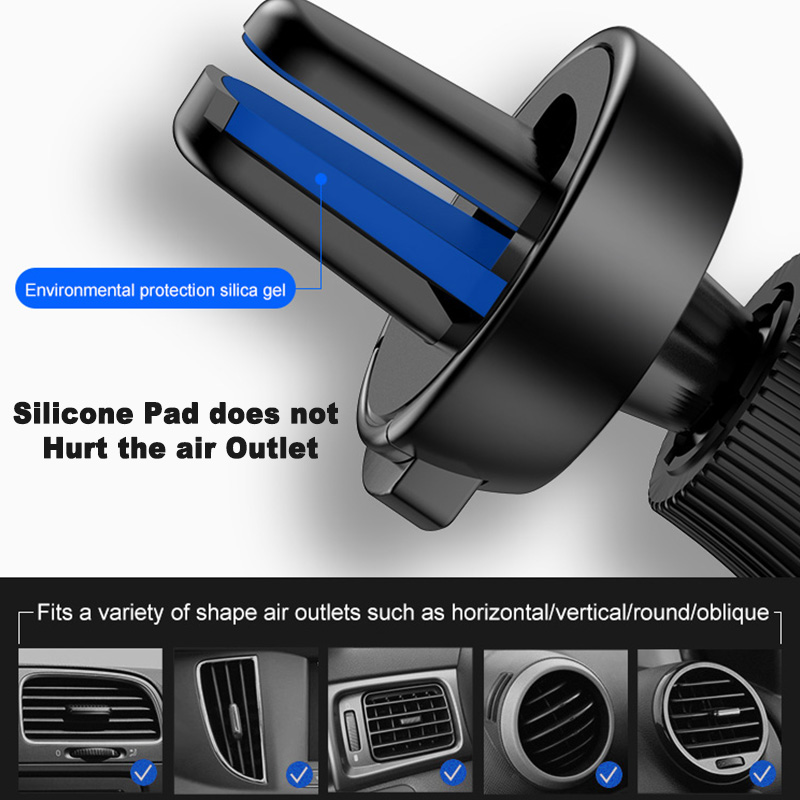 Image 5 - Car vent mobile phone holder universal automatic grip creative gravity induction car GPS bracket car phone stabilizer snap on-in Universal Car Bracket from Automobiles & Motorcycles