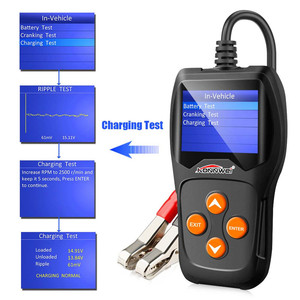 Image 2 - Batterie Tester 12V Automotive Last Auto Digitale Batterie Analyzer Batterie Scanner Multi Sprachen Fahrzeug Batterie Diagnose Werkzeug