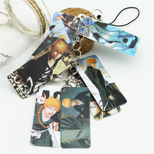 BLEACH Photo Pvc Card String Keychain 8pcs Cards/string Women Bag Accessories