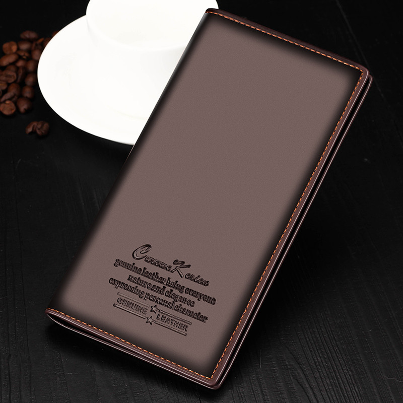 все цены на Bifold Men Wallets Leather Coin Purse Credit Card Holder Cash Clutch Luxury Brand Designer Long Carteira Portefeuille Gift 2017 онлайн