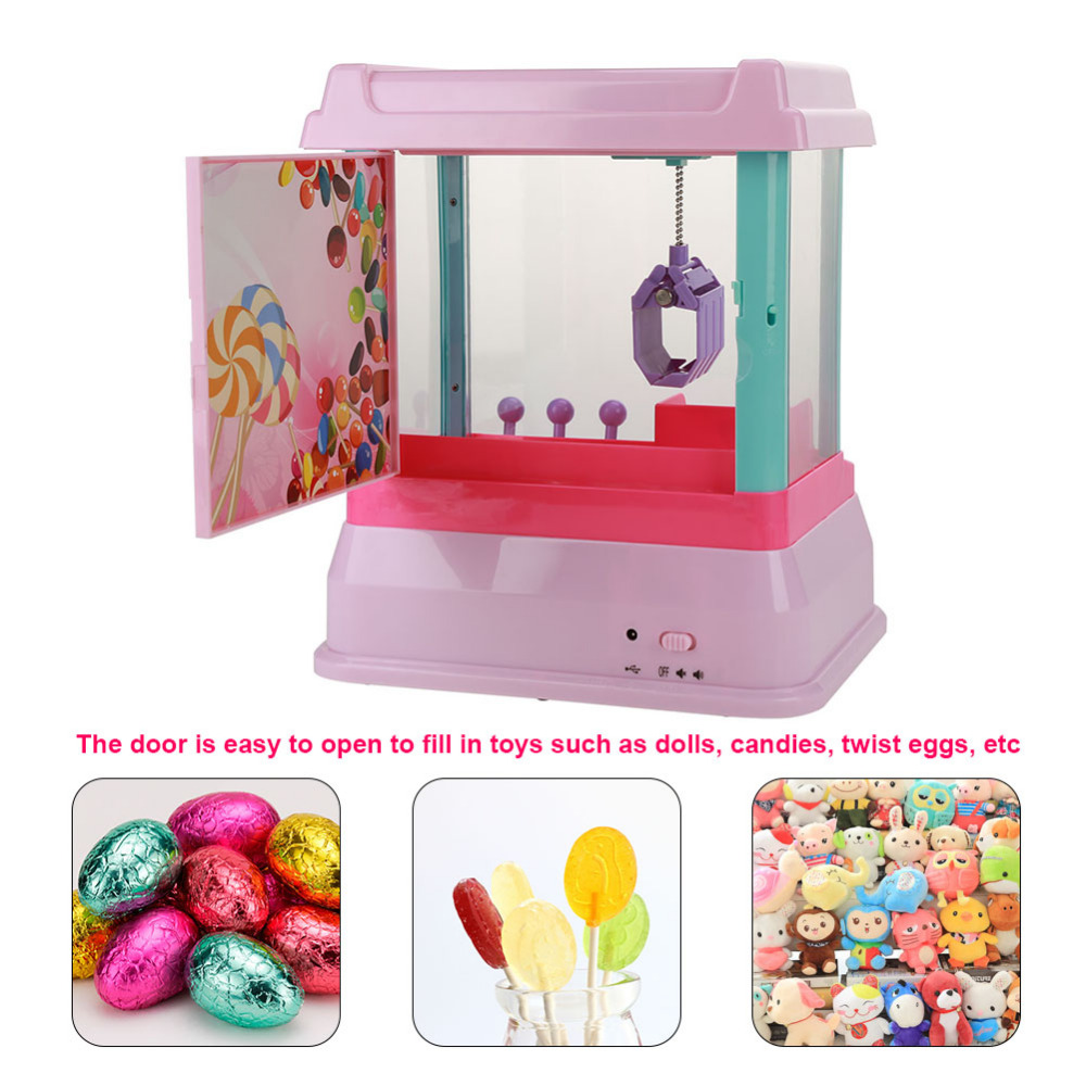 Kids Interesting Funny Toys Mini Toys Catcher Machine Children Electronic Dolls Game Toy Claw Crane Machine candy toy catcher