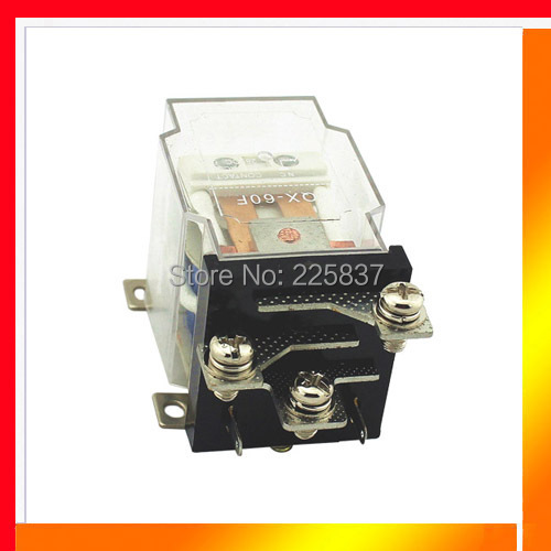 Free shipping JQX-60F relay 1Z 60A 12vdc coil screw mount terminal power relay цена 2017