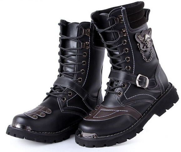 Aliexpress.com : Buy Big sale! Motorcycle Boots Vintage Combat ...