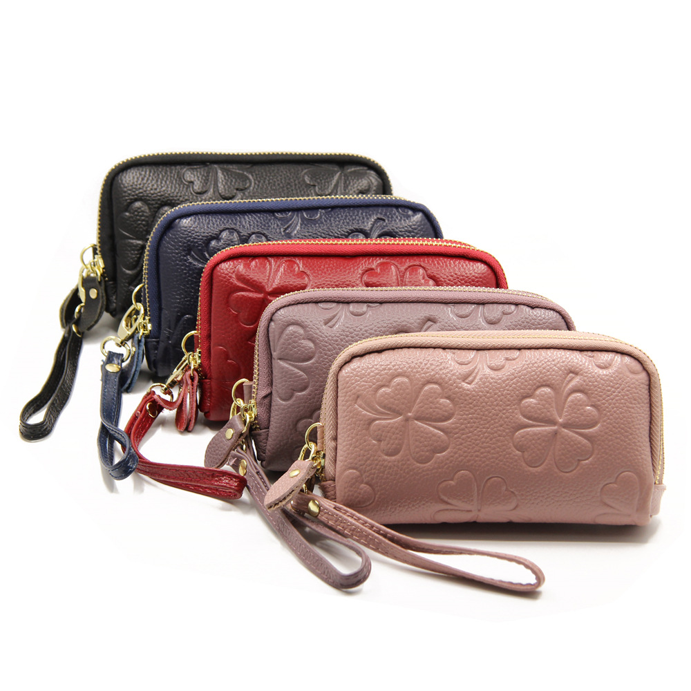 2019 New Brand Wallet Female Long Clutch Card Holders With Cellphone Pocket Women Wallets Genuine Leather Coin Purse Wristlet