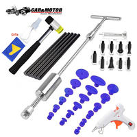 PDR Tools 2 in 1 Slide Hammer Reverse Hammer Paintless Dent Repair Tool Auto Car Body Dent Puller Kit Glue Tabs Suction Cups