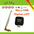 New Ultra Mini Micro USB DVB-T Tuner Receiver Digital Mobile Streamer ez TV Tuner Receiver Stick for Android 4.1 Above