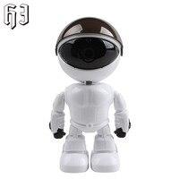 White Smart Robot IP Camera HD WIFI Baby Monitor 960P 1 3MP CMOS Wireless CCTV P2P