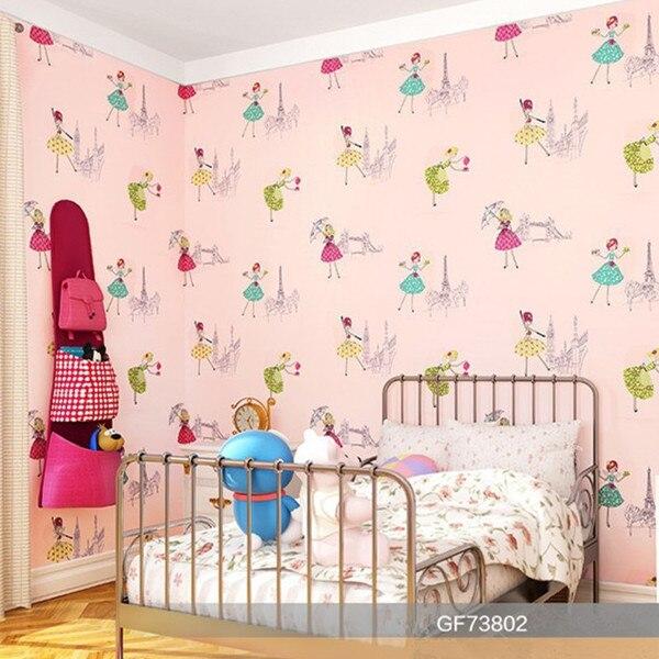 Umwelt karton tapete rosa schöne mädchen tapeten für kinderzimmer ...