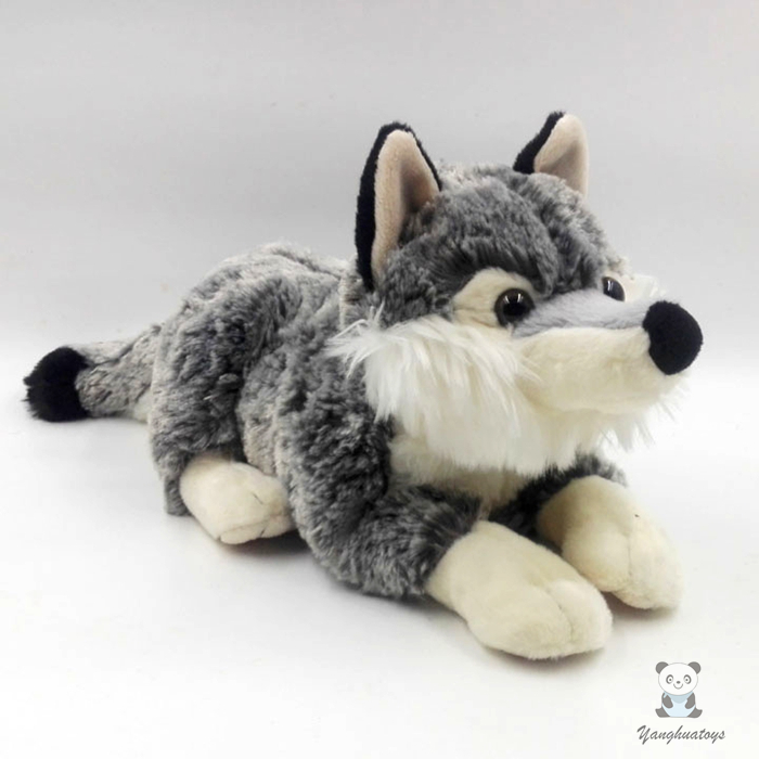 Stuffed Animal Cute Simulation Wolf Doll Toys Children Good Quality Gifts Toy Stores children s toys plush fox doll toy gifts stuffed animal simulation red foxes dolls