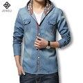 2016 Hombres Chaqueta de Mezclilla Marca Primavera Denim Vintage Blue Jeans Jacket Slim Fit Hombres Abrigos Plus Tamaño Jaqueta masculina Venta Caliente M-3XL
