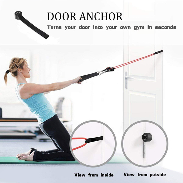 17Pcs Resistance Bands Set Yoga Exercise Fitness Band Rubber Loop Tube Bands Gym Door Anchor Ankle Straps with Bag Elastic Band 3