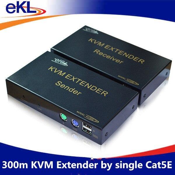 EKL KVM USB extender 300m kvm extender sender + receiver include kvm cableusb extender