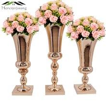 Цветы, вазы, стол, Центральная ваза, металл, золото, настольный дорожный свинцовый тип, держатель для цветов для дома/свадебного украшения, лучший подарок G031