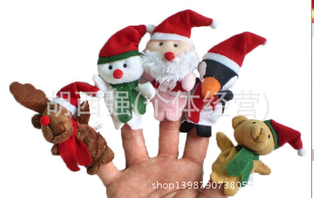 Christmas decorations snowman santa claus hat and christmas