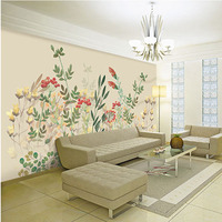 Custom 3D Print DIY Fabric Textile Wallcoverings For Walls Cloth Jacquard Linen For Living Room Murals