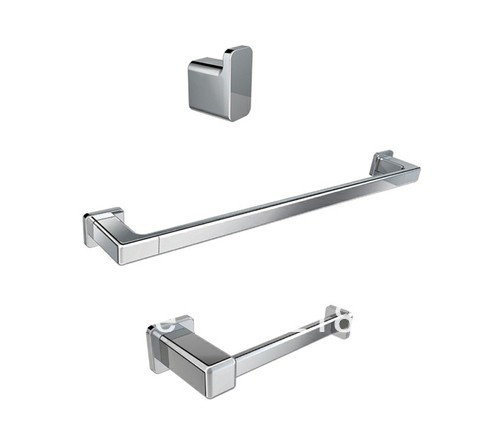 square bathroom accessories set brass chromerobe hooktowel barpaper holder