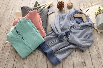 Zipper jacket boys children baby knitted casual shirt cotton spring children hoodie