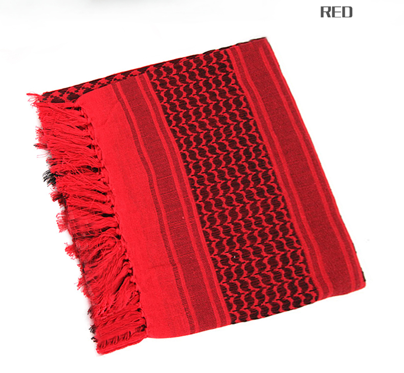 Image 5 - 100% Cotton Tactical Desert Arabic Scarf Men Arab Military Keffiyeh Scarf Thick Muslim Hijab Windproof Hunting Hiking Head Scarf-in Scarves from Sports & Entertainment