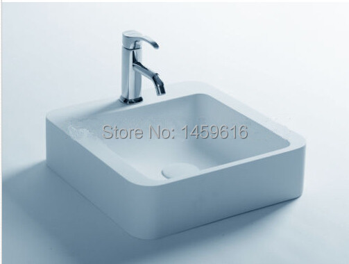 ** Bathroom Square Wash Basin Solid Surface Resin Counter Top Vanity Washbasin European Design ** 2006