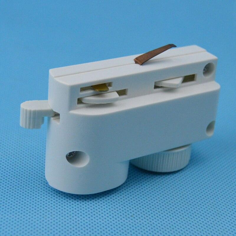 Oświetlenie szynowe led Head metalohalogenkowe śledzenie akcesoria oświetleniowe dwie prowadnica drutu złącze szynowe reflektory punktowe