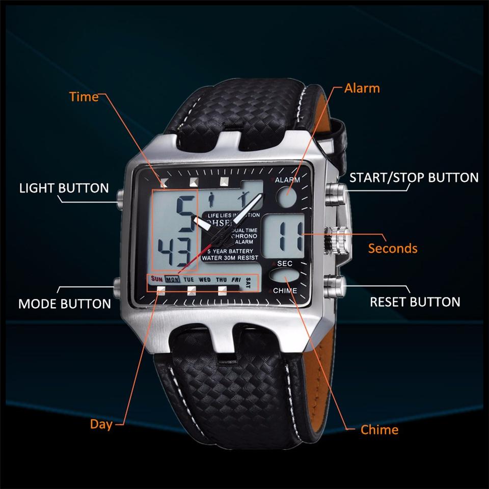 Hot Fashion OHSEN Brand Men Sports Watches Analog Casual Quartz 3ATM Waterproof Sport Military Watch Men Relogio Male Clock Gift (16)