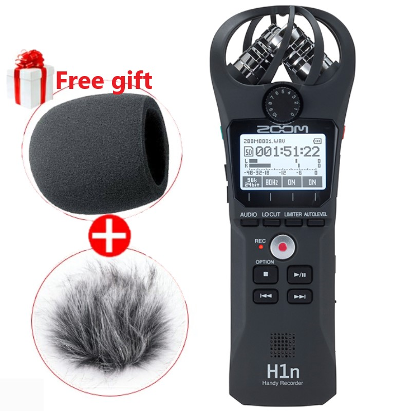 Professional portable ZOOM H1N Handy Recorder Ultra Portable Digital camera Audio Recorder Stereo microphone Interview SLR