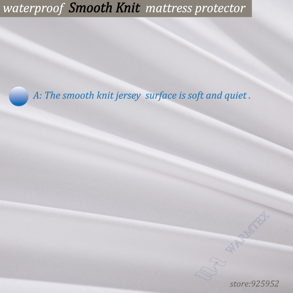 king size 200x200cm smooth knit cloth 100% waterproof Mattress Cover Mattress Protector A