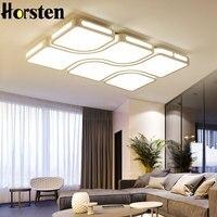 Современные Простые акриловые светодиодный Потолочные светильники минималистский прямоугольный потолочный светильник с Romote Управление д