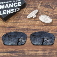 ToughAsNails Resist Seawater Corrosion Black Polarized Replacement Lens and Clear Nose Pads for Oakley Half Wire 2.0 Sunglasses