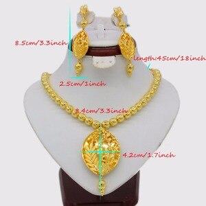 Image 2 - Adixyn Vintage collier/boucles doreilles parure de bijoux pour femmes couleur or/cuivre éthiopien arabe inde cadeaux de fête