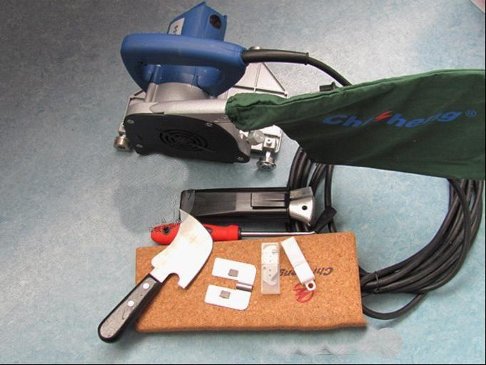 (PVC grindys) Griovimo mašina / su keliais mažais įrankiais