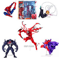 16cm Super Hero Venom Spider man spider gwen Magneto Assemble action Movable joint Action Figure toys for Children Birthday Gift
