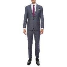 (Jacket+Vest+Pants) 2019 Pure Grey Custom Slim Fit Groom Tuxedos Groomsmen Mens Wedding Prom Suits With Pants Ternos Masculino