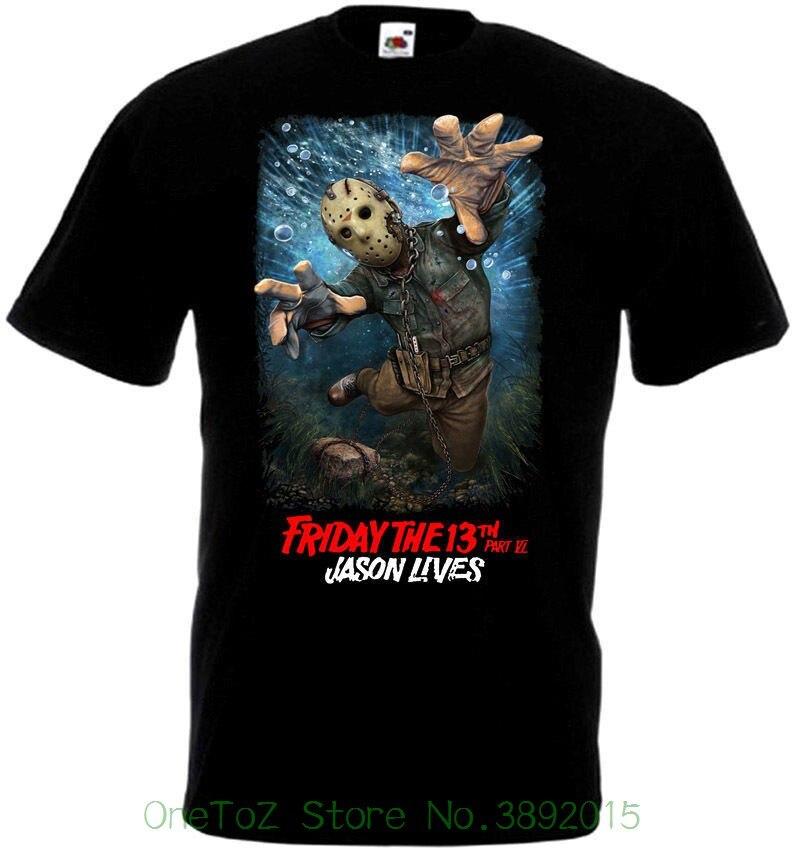 Men Brand Clothihng Top Quality Fashion Mens T Shirt 100%cotton Friday The 13 V44 T-shirt All Sizes S - 5xl Black
