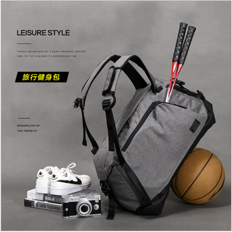 free shipping Portable Shoulder Sports Bag Gym Backpack Separated Shoes  Storage Fitness Bags Men Women Travel Daypack Sport Bag-in Gym Bags from  Sports ... 6fd7435f5db9f