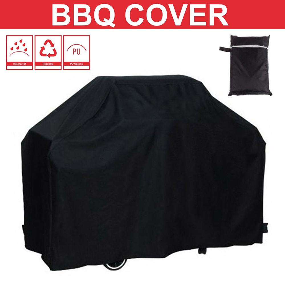 Black Waterproof BBQ Cover BBQ Accessories Grill Cover Anti Dust Rain Gas Charcoal Electric Barbeque Grill 4 Sizes-in Covers from Home u0026 Garden on ...  sc 1 st  AliExpress.com & Black Waterproof BBQ Cover BBQ Accessories Grill Cover Anti Dust ...