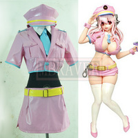 Anime New Hot Sexy Super Sonic Cosplay Costume Super Sonico Space Police Cosplay