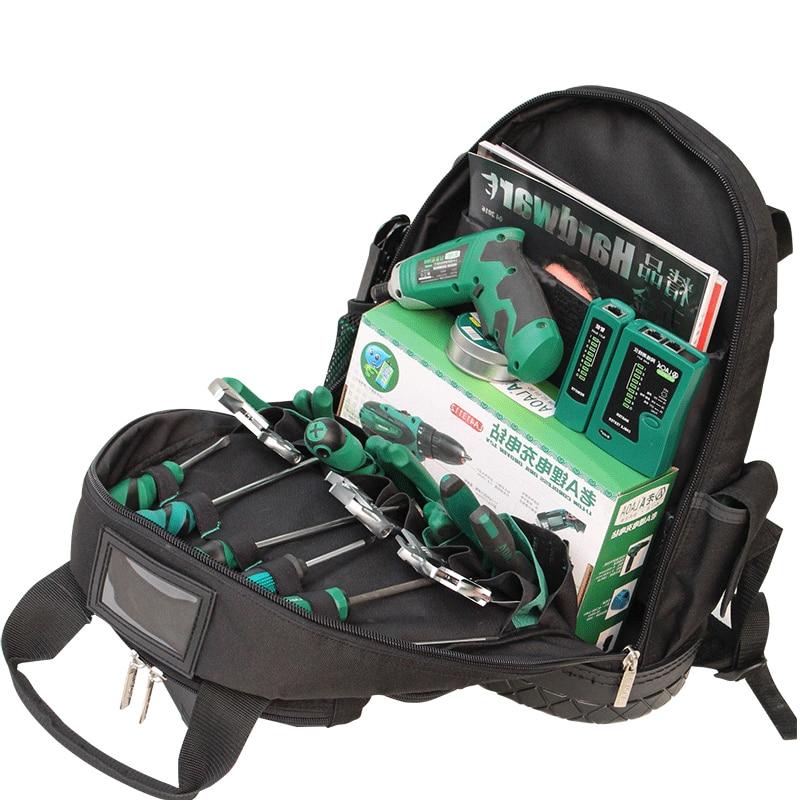 LAOA 1680D ramiona plecak torba na narzędzia Multifuctional Oxford tkaniny elektryk torby dla Eletricista przechowywanie narzędzi bez narzędzi