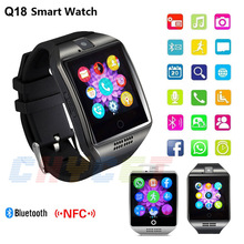 2016 New NFC Bluetooth Smart Watch Q18 With Camera facebook Sync SMS MP3 font b Smartwatch